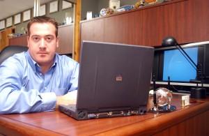 Terry Cutler desk at Digital Locksmiths